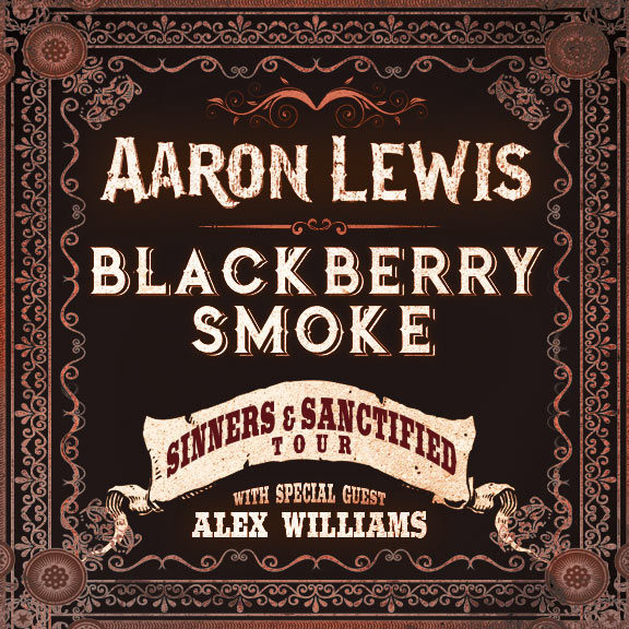 Aaron Lewis, Blackberry Smoke & Alex Williams at Tower Theatre